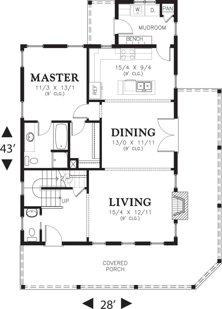 House Plan 48-572 Main Floor
