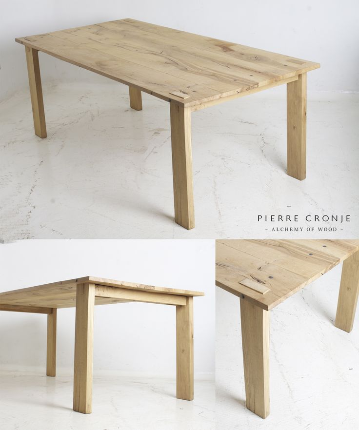 Pierre Cronje Loft Dining Table in French Oak