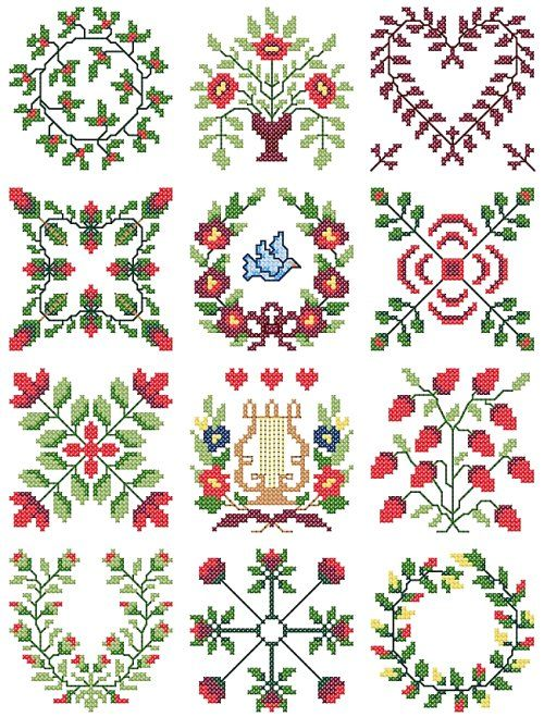 Free Cross Stitch Patterns | Free Cross Stitch Patterns – Download and print FREE counted cross this will be perfect to make on top of a quilt!