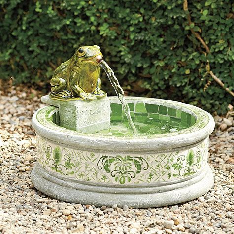 Mosaic Frog Fountain   Love This For My Lanai