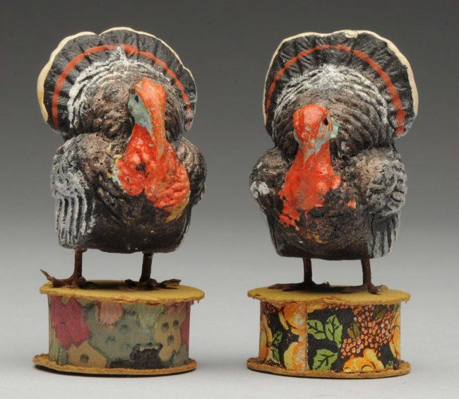 Pair of Turkey Candy Containers