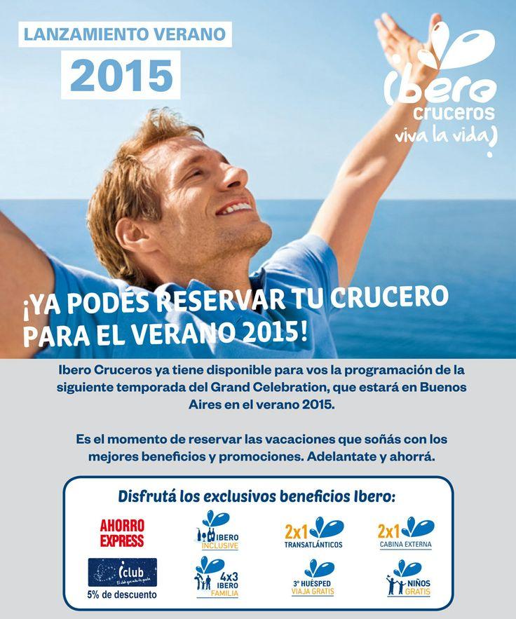 #Iberocruceros ya tiene la programación #Verano 2015!!! Ya podés reservar tu próximo crucero