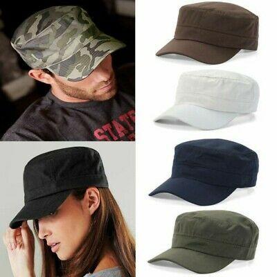New Men Women Classic Plain Hat Adjustable Army Military Cadet Style Cap M