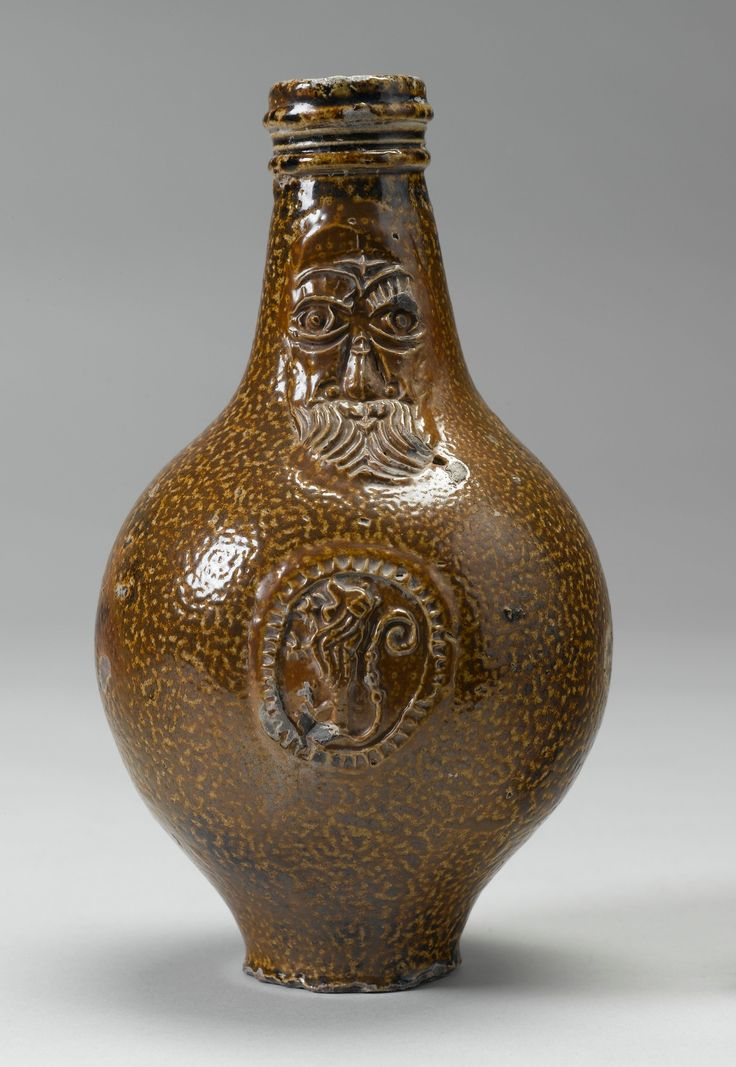 Bellarmine or Greybeard, German salt glazed pottery: Royal ...