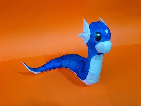 Pokemon DRATINI - Papercraft #pokemon #papercraft