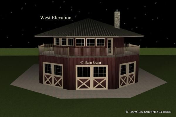 4 Stall Horse Barn With Apartment Design Plan Dream Barn