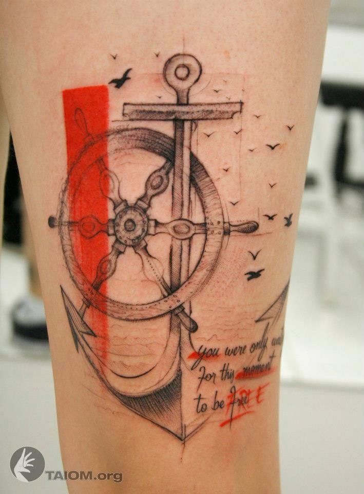 """Whoa ! Amazing detail. Great water color feel to it. Almost looks edited with the red. Could be a good idea if you have a shitty tattoo, just red to """"correct"""" it. Make it look like it was done on purpose."""