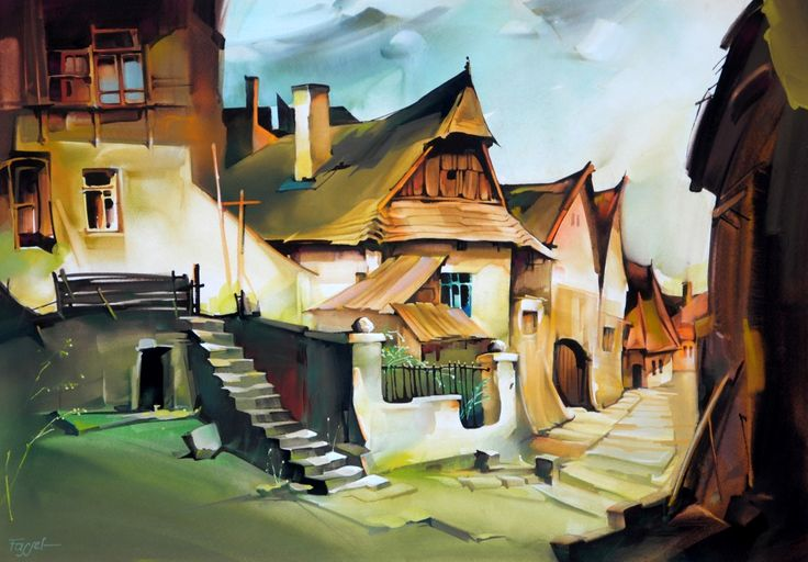 Fassel L'ousa Ferenc: A régi Tabán - Vándorfény Galéria