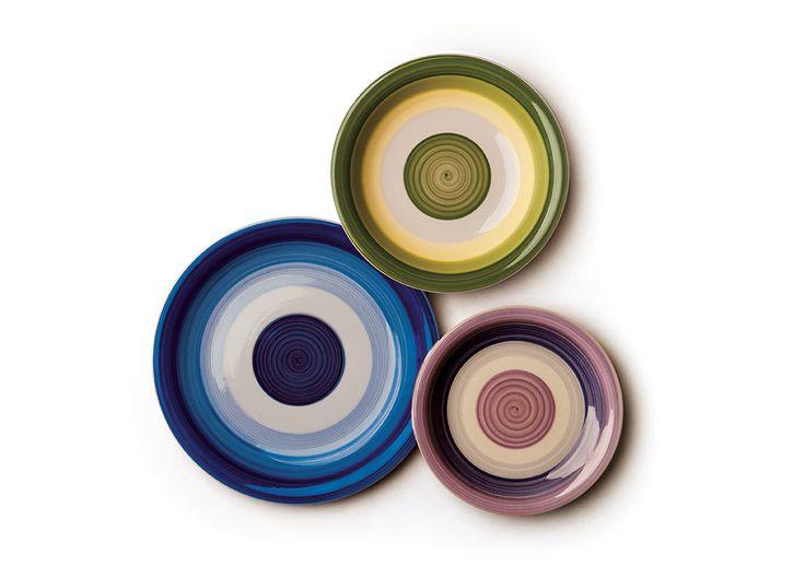 #Piatti #stoneware #colorati by Excelsa