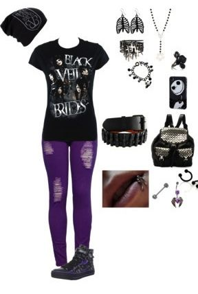Don't really like BVB but I like this outfit so just a different top and whatever,