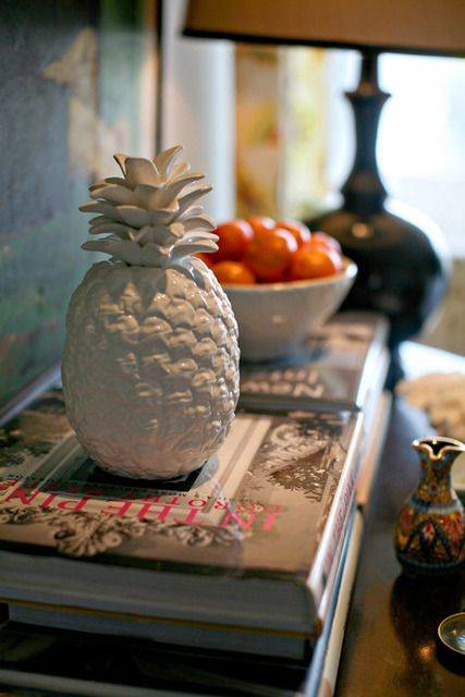 Love pineapple decor items home decor style me pretty for Decoration stuff