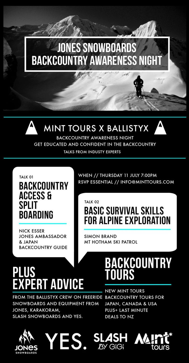 Mint Tours x Ballistyx Backcountry Awareness Night - Ballistyx