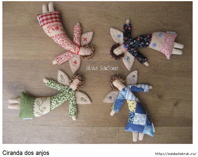 Textile angel. Pattern