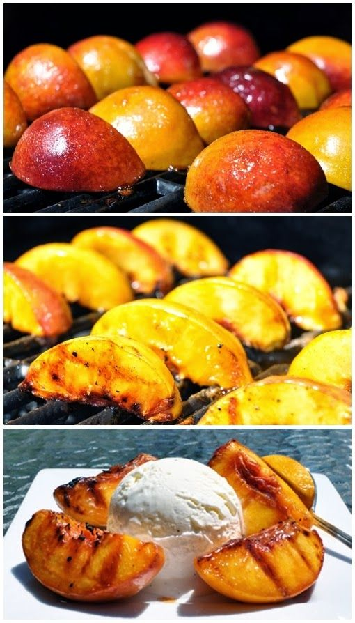 Grilled Georgia Peaches and Ice Cream | www.oldtimepottery.com