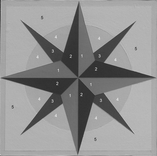 Mariners Compass Number Pattern