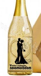 Zlaté šampanské  SEKT 23 karát  Svadobné 0,75L
