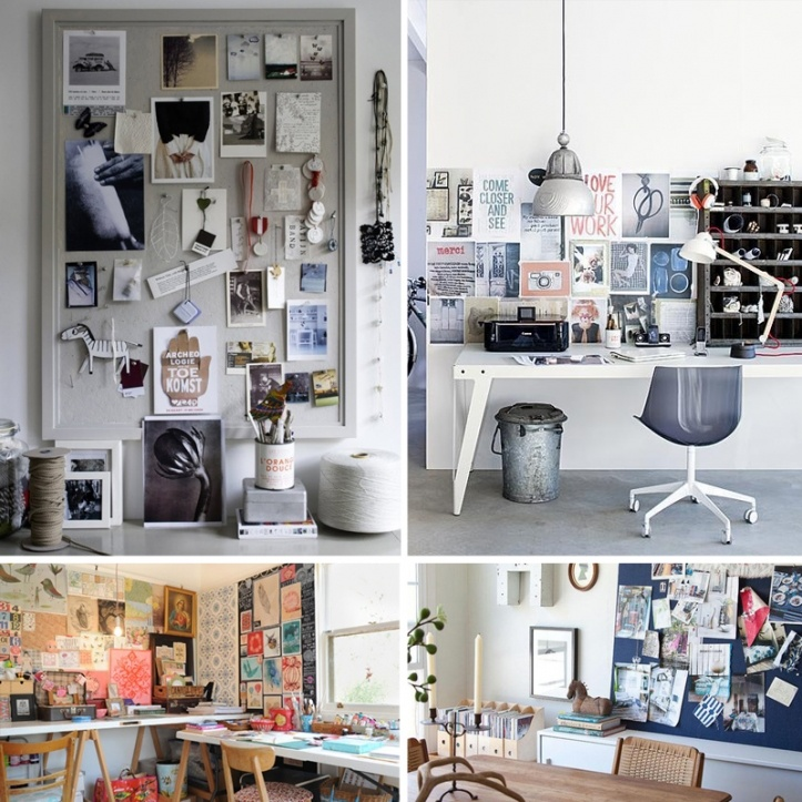 how to make a desk moodboard