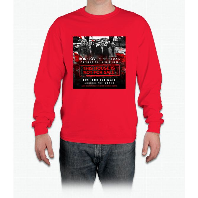 BON JOVI - PRESENT TOUR DATE 2017 - THIS HOUSE IS NOT FOR SALE Long Sleeve T-Shirt