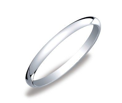 womens 14k white gold 2mm traditional plain wedding band