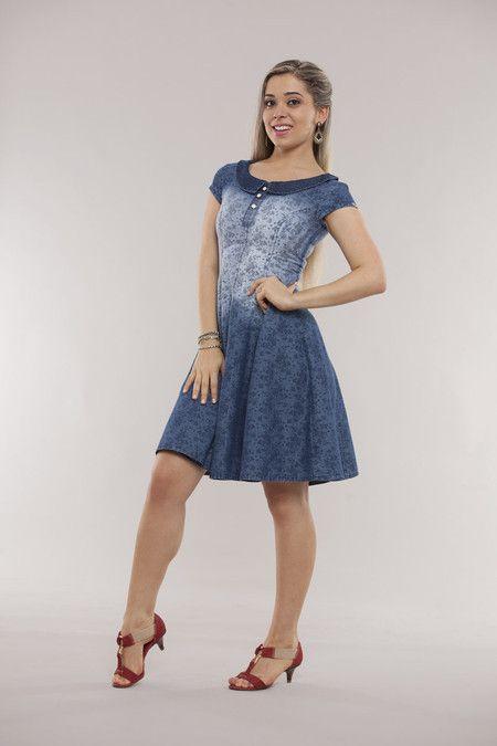 Vestido Sexto - Raje Jeans - Moda Evangélica e Roupa Evangélica: Bela Loba