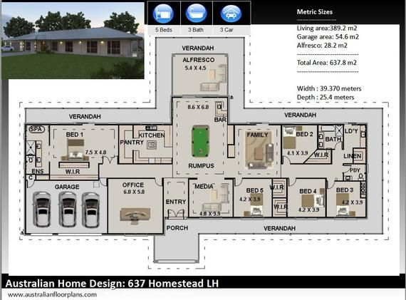 House Plan 637 5 Bedrooms Full Construction Plans With Your Custom Changes House Plans Construction Plan Country Style Bedroom