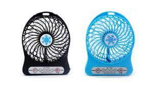Mini Portable Fan Kipas Angin Mini (Include Rechargeable 2200 mAh)