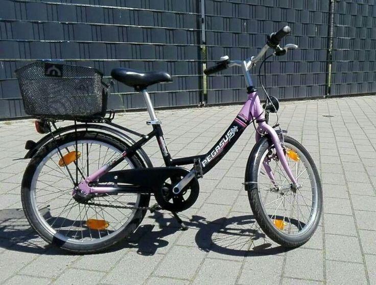 Mädchen-Fahrrad, 20 Zoll, schwarz-lila,gebraucht - top gepflegt, wie neu, mit Fahrradkorb, bei Interesse oder Fragen - bitte Nachricht schreiben!