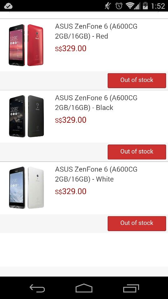 Asus ZenPhone 6 is always out of stock like XiaoMi.
