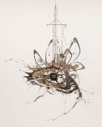 Lee Bontecou. Untitled. 1980–98. Welded steel, porcelain, wire mesh, canvas, wire, and grommets, 7 x 8 x 6' (213.4 x 243.8 x 182.9 cm). The Museum of Modern Art, New York. Gift of Philip Johnson (by exchange) and the Nina and Gordon Bunshaft Bequest Fund. © 2010 Lee Bontecou