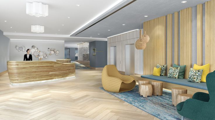 Bayside DoubleTree Hotel Expansion – interior design, dream hotel, hotel reception | #intoriorhoteldecoration #interiordesigns #interiorartdesign | More: https://www.brabbucontract.com/projects