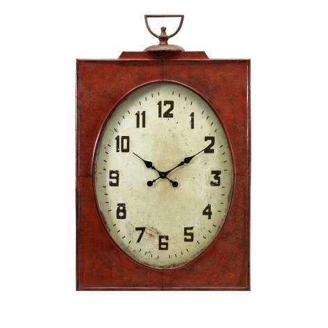 carnen oversized red wall clock - Wall Clocks