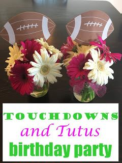Touchdowns and Tutus Birthday Party  #football #footballparty #nachobar #tutus #tutusparty #birthdayparty