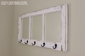 Cozy.Cottage.Cute.: Before and After: An Old Window Turns Into Something Cute