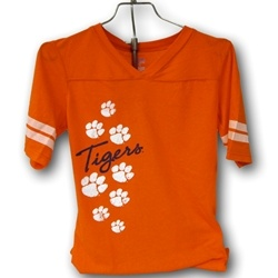 Ladies football jersey! Perfect for football season! http://www.tigertowngraphics.com/p-1118-ladies-football-jersey-with-paws-down-side-167b.aspx