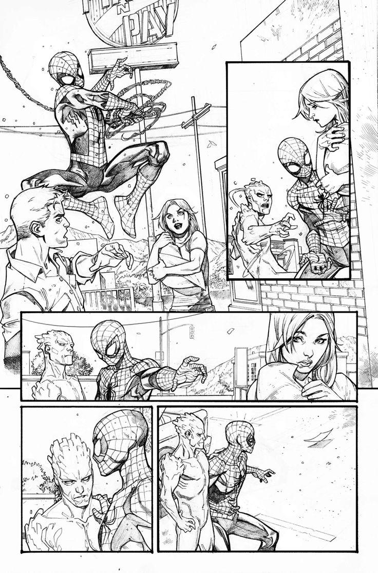 Art from Amazing X-Men #7 by Paco Medina! Reuniting Spider-Man & His Amazing Friends. Spider-Man, Iceman, & Firestar!