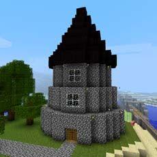 Default Wizard Tower in Minecraft