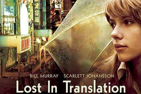Lost in Translation (2003) – Charlotte comes to Tokyo to join her new famous husband. She is very lonely in her apartment when she meets the raging movie star, Bob.