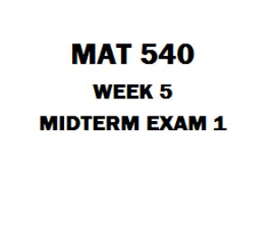MAT 540 Midterm Exam 1 1. Deterministic techniques assume that no uncertainty exists in model parameters. 2. A continuous random variable may assume only integer values within a given interval. 3. A joint probability is the probability that two or more events that are mutually exclusive can occur simultaneously. 4. A decision tree is a diagram consisting of circles decision nodes, square probability nodes, and branches 5. Starting conditions have no impact on the validity of a simulation
