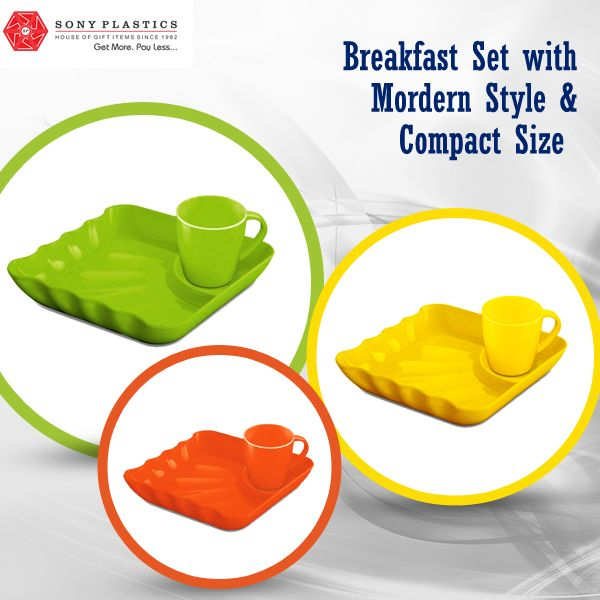 ‪#‎Breakfast‬ set with modern style & compact size Visit http://www.sonyplastics.com/ for bulk inquiries