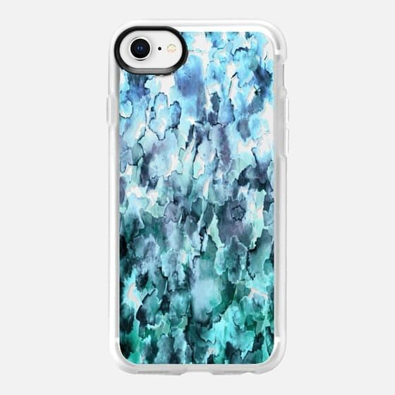 FLORAL FLOW, PASTEL TEAL BLUE - WATERCOLOR FLOWERS OMBRE, By Artist Julia Di Sano, Ebi Emporium on #Casetify #EbiEmporium #iphone #iphonecase #floral #flowers #spring #waves #teal #mint #aqua #turquoise #pastelblue #summer #beach #pastelcase #pasteliphone #ombre #girly #iphone6 #iphone7 #iphone8 #iphonex #iphone7plus #iphone6plus #samsung #case #tech #watercolor #ombre #CasetifyArtist #musthave #want #fashion #chic #pretty #clearcase #transparent