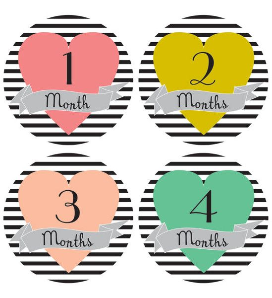 Adorable stickers for monthly baby pictures   – Pregnancy, babies and beyond
