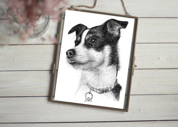 f9e854169413 Pet portrait drawing, Dog drawing, Drawing your pet, Custom pet portrait,  Pet