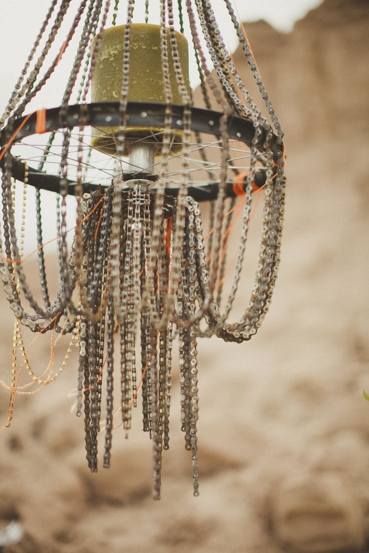 Handcrafted Chandeliers Made From Damaged Bicycles :: Orange September, An  Event Company