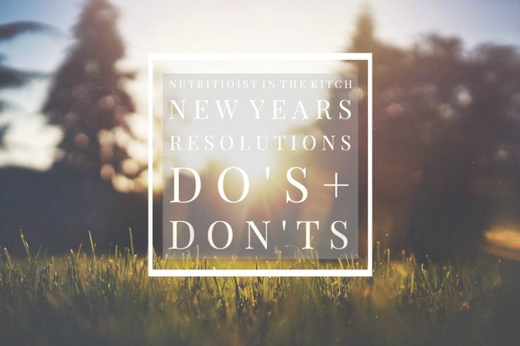 NITK's New Years Resolutions Do's + Don't