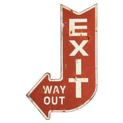 "Metal Exit Sign (14""x22"") - 3R Studios : Target"