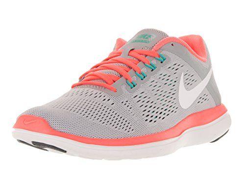 Nike Womens Flex 2016 Rn Wolf GreyWhiteDark GreyBright Mn Running Shoe 75  Women US ** Read more at the image link. (This is an Amazon affiliate li…