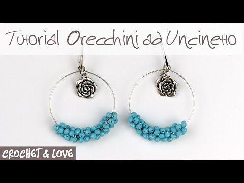 331 Tutorial Orecchini A Cerchio Con Perline Ad Uncinetto Sub Eng