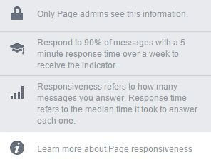 A couple of days ago #Facebook introduced a new feature that can raise your brand's awareness and #increase your #brand's quality in the eyes of the visitor.  The feature is related to the Customer Service your page provides for engaging #users that send direct messages to your Facebook Page.  If you think about it, it is a really great feature and you get awarded with a badge that will show up for the viewers of your page demonstrating that your #CostumerService is worth approaching. No one…