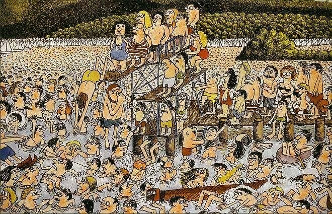 Freibad von Uli Olschewski Comics