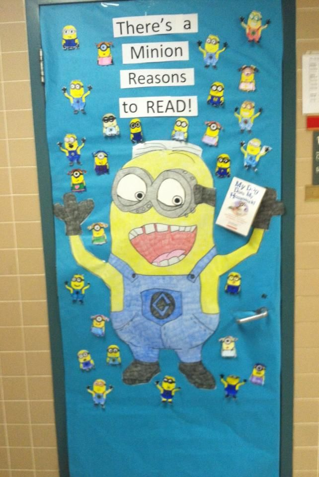 Love of Reading Week door decoration. Submitted by Renee Morales via the WeAreTeachers Facebook page.